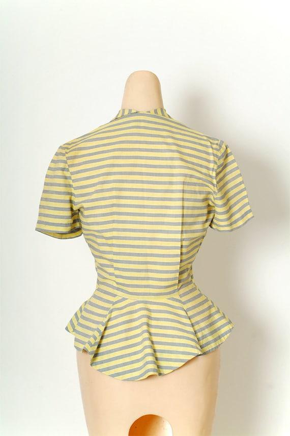 Vintage 40s Shirt Dress / Vintage Womens / Cotton… - image 4