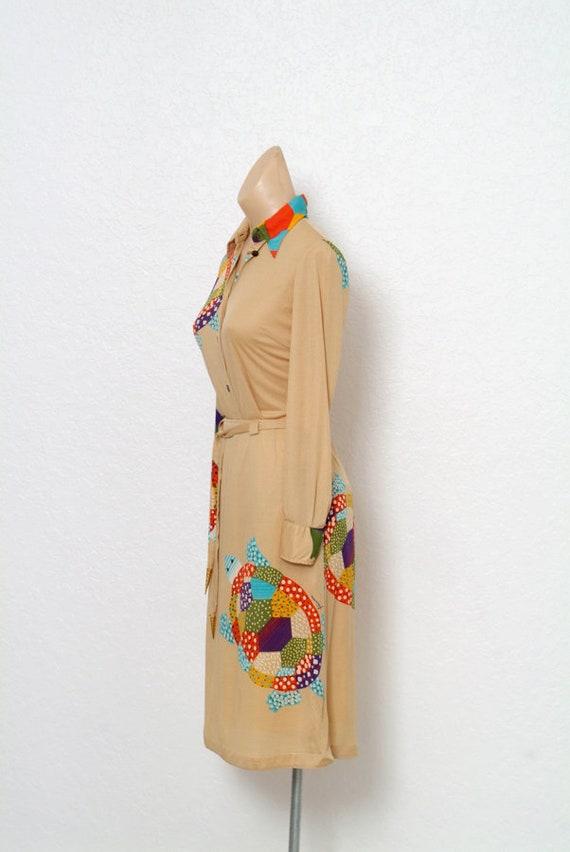 Vintage 70s dress / Novelty Print / Vintage two p… - image 4