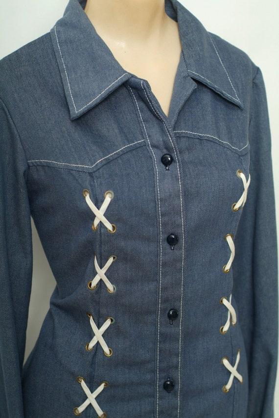 Vintage 60s  Shirt / Top / Vintage shirt / Vintag… - image 3