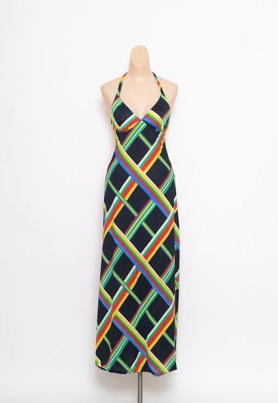 Vintage 70s Dress - Maxi dress - Vintage Dress - 1