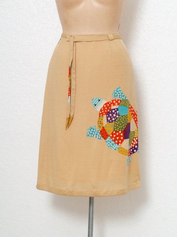 Vintage 70s dress / Novelty Print / Vintage two p… - image 8