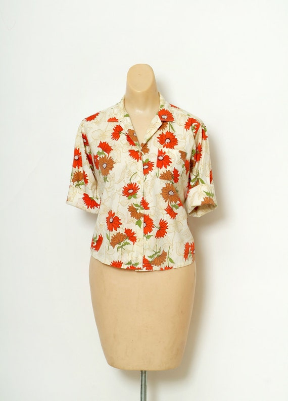 Vintage Shirt 50's  / 1950s / Pin up / shirts / Fl