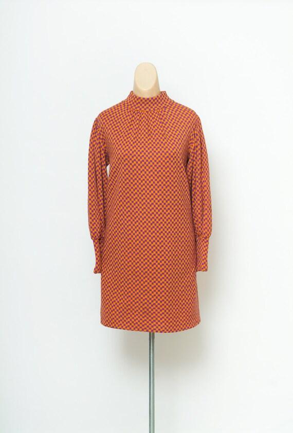 Vintage 60s mod dress / Twiggy Style / 60s polyest