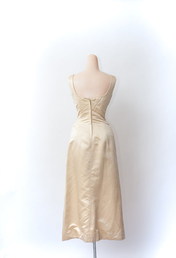 Vintage 50s gown, Beaded gown, Maxi evening dress… - image 4