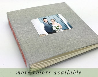 Custom Photo Album for Wedding Baby Anniversary / Personalized with Cover Photo / Optional Title Page / Choose your Fabric