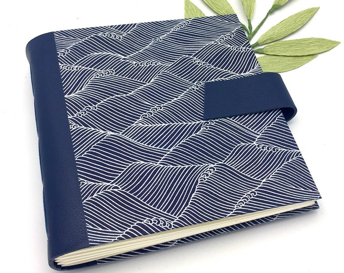 Featured listing image: Navy Wedding Scrapbook Album - 8x8 inch - Personalize It