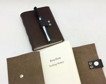 Leather Bourbon Tasting Notebook - Rich Brown