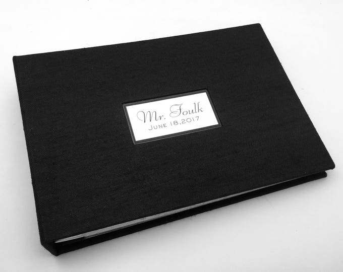 Black Canvas Photo Album - Made to Order - multiple sizes available