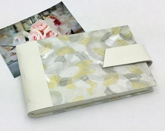 Wedding Mini Photo Album for 4x6 Photos with Sleeves Anniversary Gift Personalize It / In Stock