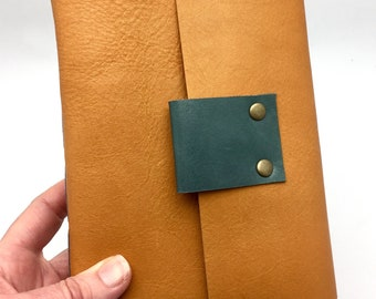 Leather Journal in Golden Amber - In Stock