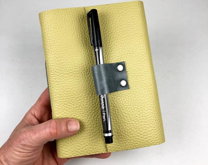 Handbound Lined Journal, Lemongrass Leather