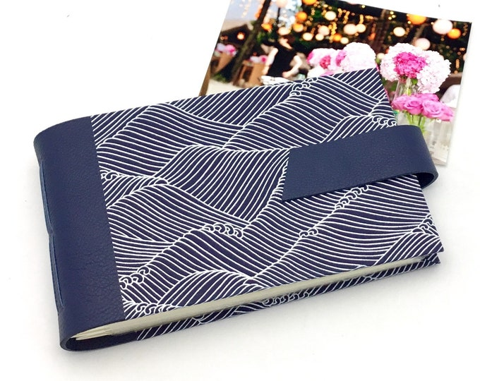 Featured listing image: Elegant Mini Photo Album - Navy and White - Personalize It