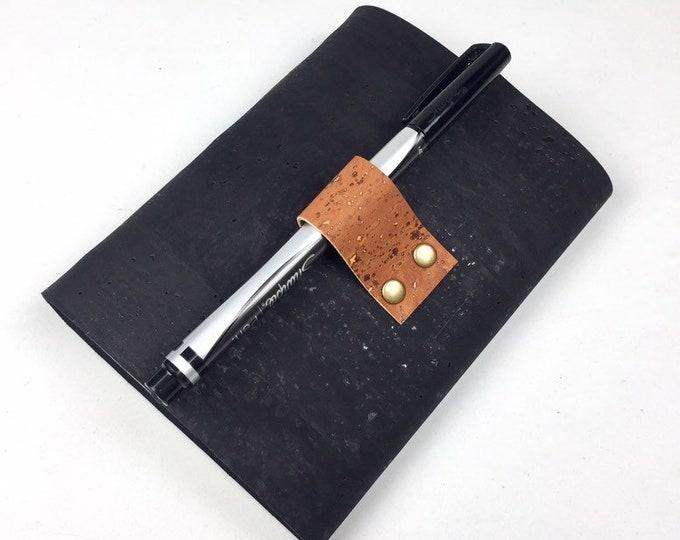 Cork Wine Tasting Notebook, Black, Vegan-Friendly
