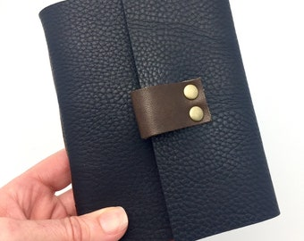 Wine Tasting Notebook Journal for Wine Lovers Gift, Navy Leather