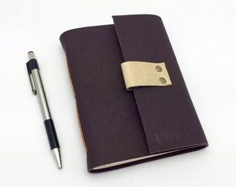 Wine Tasting Journal, Plum Leather