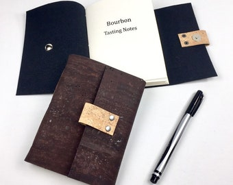 Vegan Bourbon Tasting Notebook, Chocolate Brown