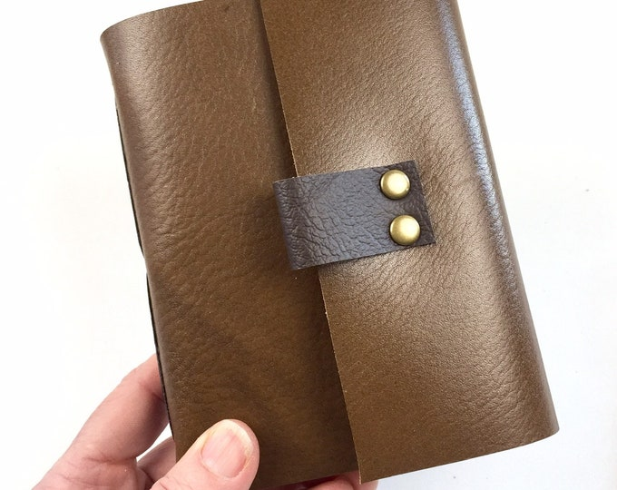 Bourbon Notebook for Bourbon Lovers in Cigar Leather / Add a monogram