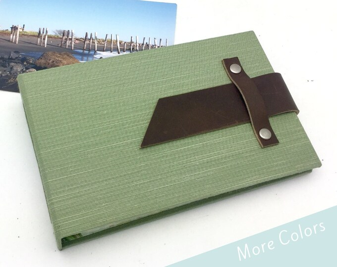 Custom Mini Photo Album with Leather Strap - Can be Personalized
