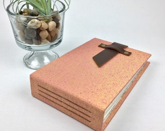 4x6 Green Mini Photo Album with Sleeves and Leather Strap / Title Card Available