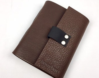 Bourbon Tasting Notebook, Rich Brown Leather