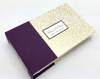 Purple and Gold Mini Photo Album - Made to Order for 4x6 Photos