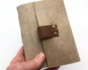 Wine Tasting Notebook Journal for Wine Lovers Gift, Distressed Taupe
