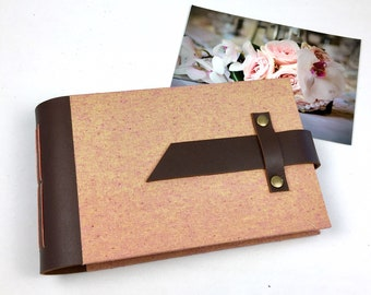 Rose Gold Mini Photo Album with Sleeves for 4x6 photos / Personalize it