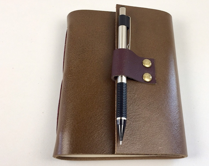 Wine Tasting Journal for Wine Lovers, Cigar Leather / Add a monogram