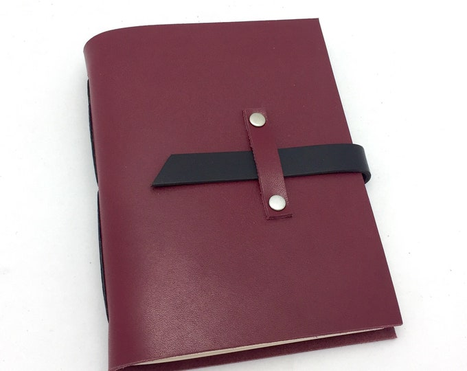 Wine Tasting Notebook, Deep Red Leather