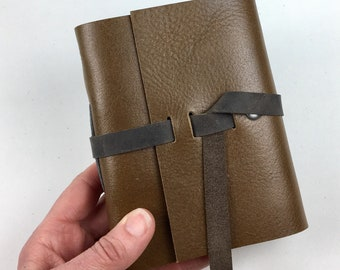 Handbound Leather Journal, Cigar Leather with Blank Pages