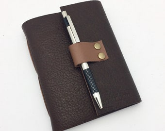 Bourbon Tasting Notebook, Bison leather