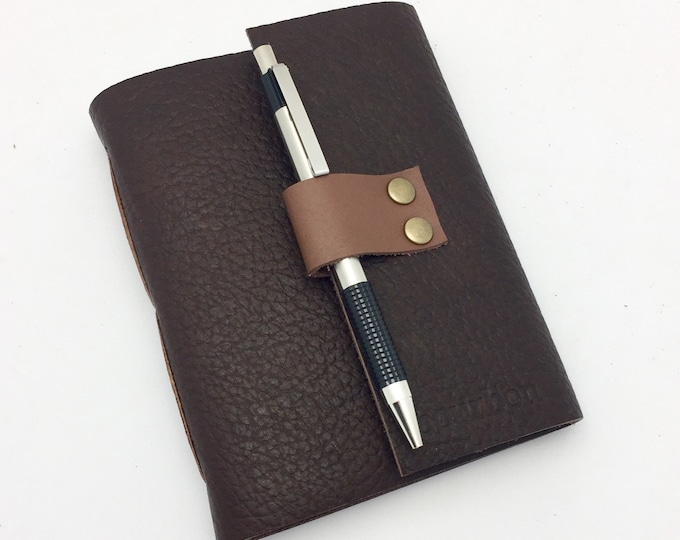 Bourbon Tasting Notebook, Bison leather