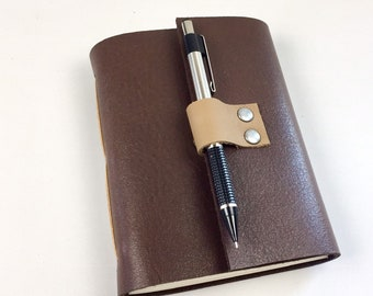 Wine Tasting Journal for Wine Lovers, Brown Leather / Add a monogram