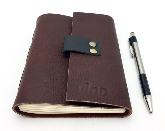 Featured listing image: Wine Tasting Notebook Journal for Wine Lovers Gift, Maroon Leather
