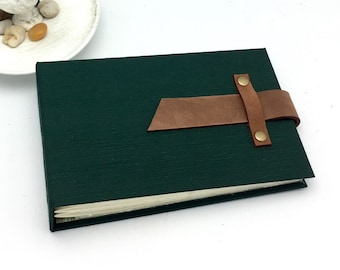4x6 Mini Photo Album with Sleeves and Leather Strap / In Stock