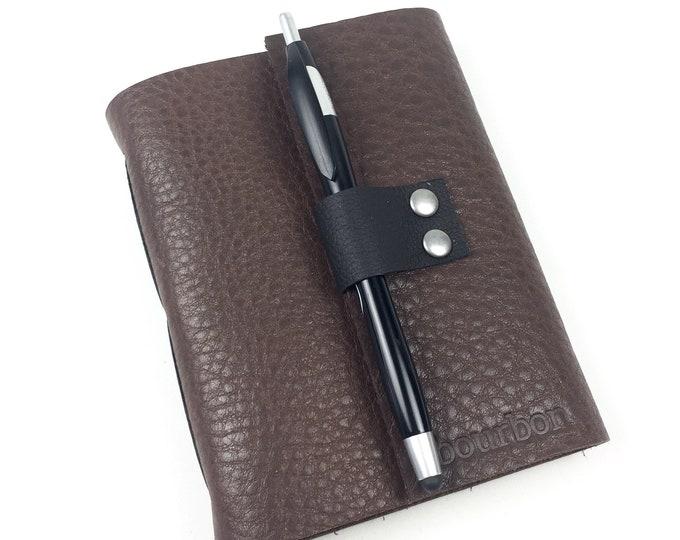 Handbound Bourbon Tasting Notebook, Rich Brown Leather