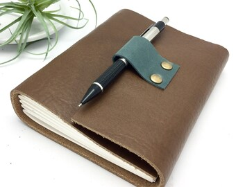 Small Leather Journal in Warm Brown - In Stock
