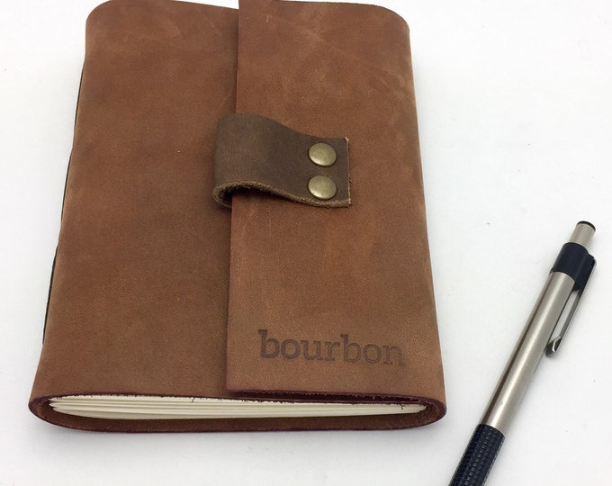Featured listing image: Leather Bourbon Tasting Notebook - Spiced Brown