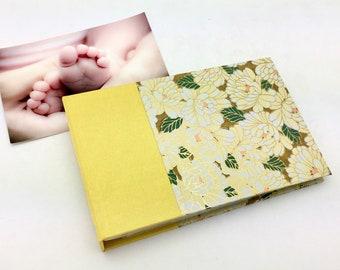 Mini Photo Album, Yellow Floral, 36 4x6 photos, In Stock