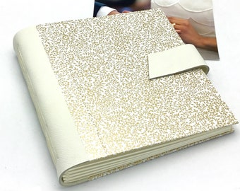 Ivory Wedding Scrapbook Album - 8x8 inch - Personalize It
