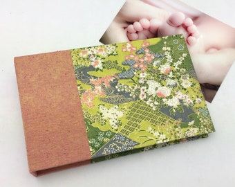 Mini Photo Album, Garden in Green, holds 36 4x6 photos, In Stock