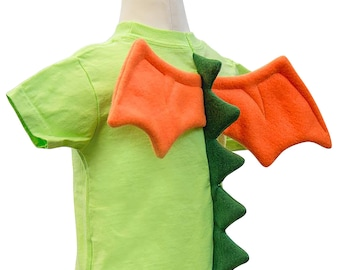 b65097d1 Lime green Dragon Shirt with Spikes and Wings / kids dragon shirt / toddler  baby dragon costume