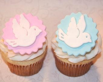 Dove DIY Cupcake Topper Kit Dove Cupcake Party Picks or Skewers Dove Cupcake Toppers