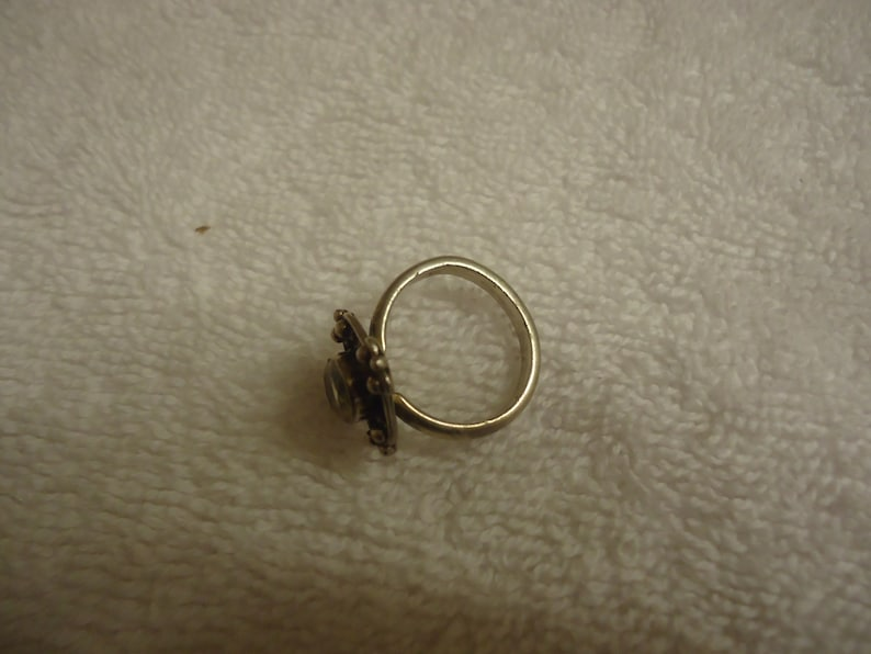 Sterling Silver and Oval Citrine Ring Size 6 34 6 Grams