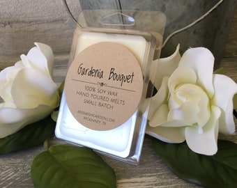 Gardenia Bouquet Wax Melts, Apricot premium scented Hand poured soy wax melts, handmade soy wax melts, handmade wax tarts, birthday, gift id