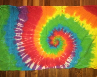 425717fccee Pillow Case Cover Tie Dye Hippie Rainbow Spiral 19 x 30 Jersey Knit