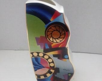 Walden P.Kaplum Arts Orbis Vase Abstr