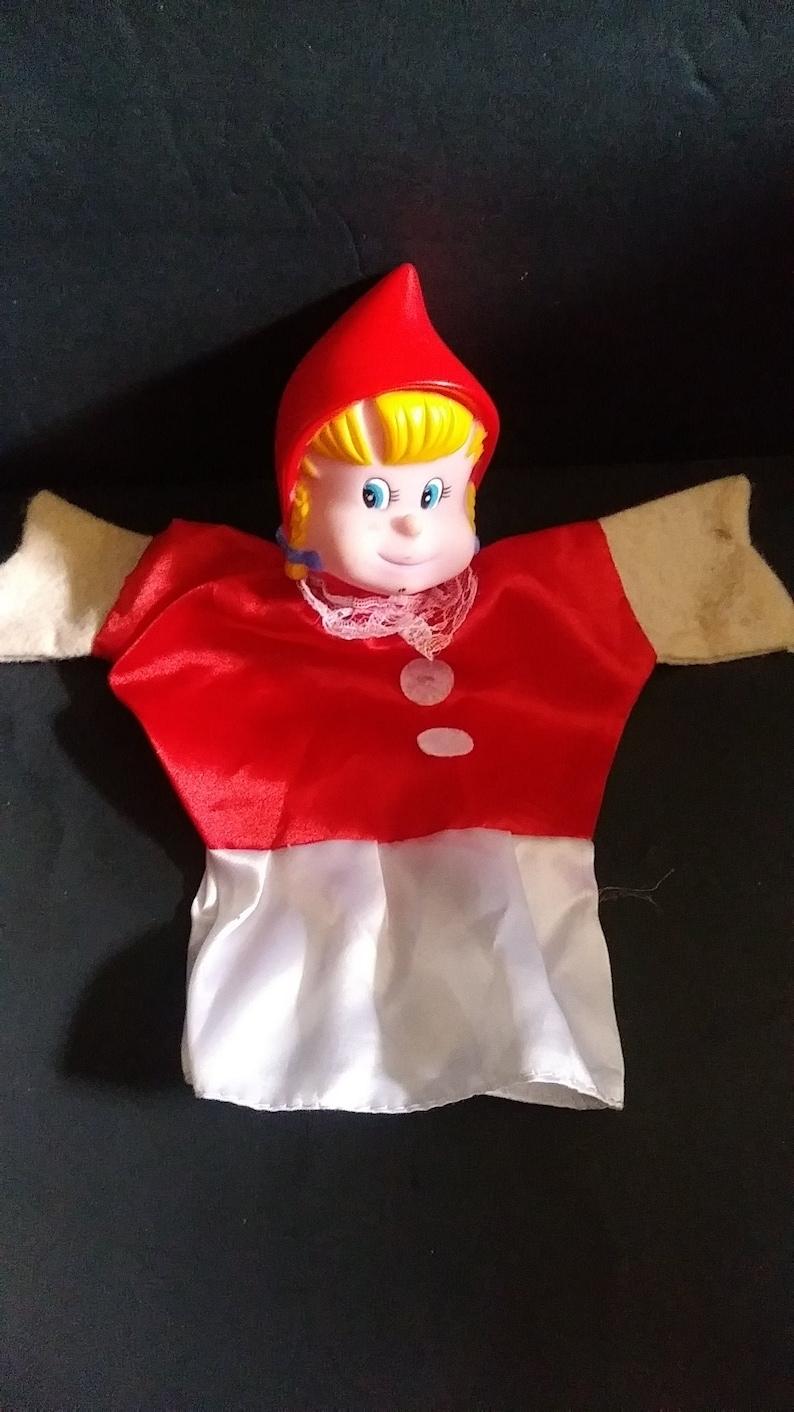 Vintage Famosa Little Red Riding Hood Hand Finger Puppet