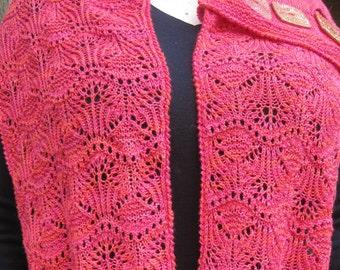 Knit Cowl/Infinity Scarf Pattern:  Hakodate Buttoned Cowl Knitting Pattern