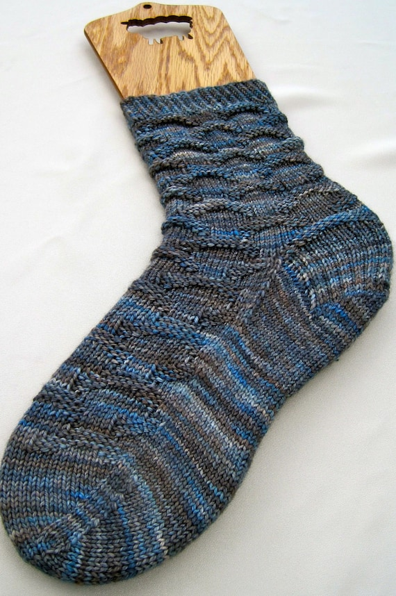 Knitting Sock Pattern Easy Blue Jean Knitting Sock Pattern Etsy